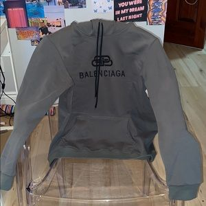 Balenciaga green olive men's sweater, size M.